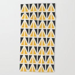 Sunny Triangles Beach Towel