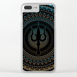 Trisula  -Trident of Shiva Clear iPhone Case