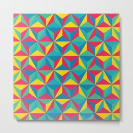 Psychedelic Triangles Metal Print