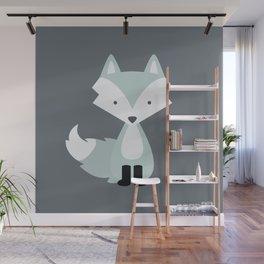Winter Baby Fox Wall Mural