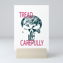 Tread Carefully Skull Mini Art Print