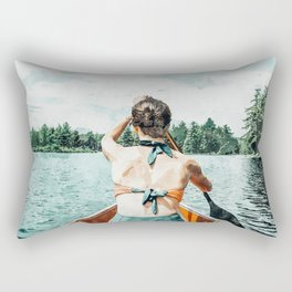 Row Your Own Boat #illustration #decor #painting Rectangular Pillow