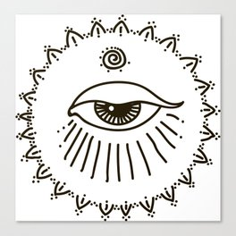eye, spiral Canvas Print