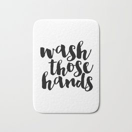 Bathroom art Bathroom sign Printable Hand lettered Nursery Decor kids Bathroom Wall art Print Bath Mat