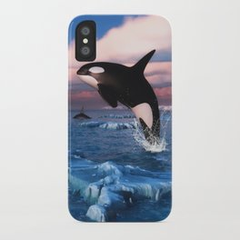 Killer whales in the Arctic Ocean iPhone Case