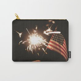 American Celebration on July 4th with Sparklers Flags and Fireworks Carry-All Pouch