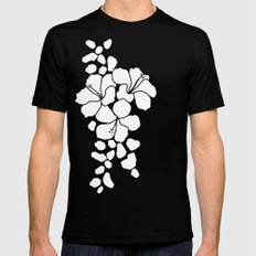 Hibiscus Animal: Ivory  Black Mens Fitted Tee MEDIUM
