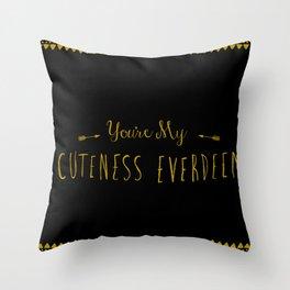Cuteness Everdeen Throw Pillow