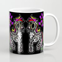 mlp Mugs featuring Sugarskull MLP by BURPdesigns
