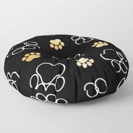 dog pawprint tracks background pet Floor Pillow