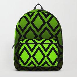 Graduated Vibrant Emerald Green Diamonds Backpack