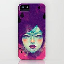 Black Rain iPhone Case