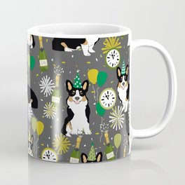 Tricorgi New Years Eve - NYE, tricolored corgi, corgi gift, corgi  lover Coffee Mug