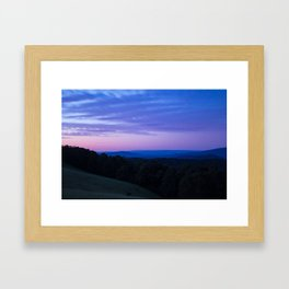 The Yarra Valleys Blue Mountains Framed Art Print