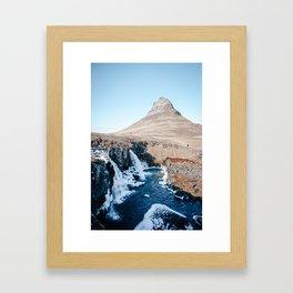 Waterfall in Iceland Framed Art Print