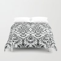damask Duvet Covers featuring Damask by Pink Fox Designs