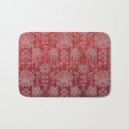 Victorian Potpourri - Faded Splendor Damask - RUBY Bath Mat