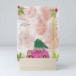 Bringing home the Christmas tree Mini Art Print