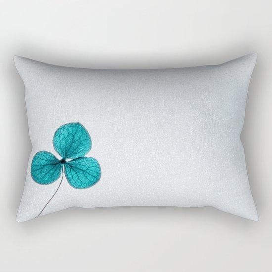 blue clover Rectangular Pillow