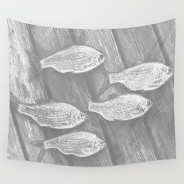 Five Fish At The Pier #decor #society6 Wall Tapestry