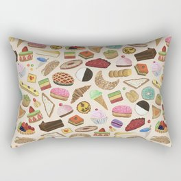 Desserts of NYC Cream Rectangular Pillow