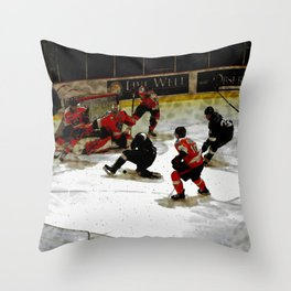 The End Zone - Ice Hockey Game Throw Pillow