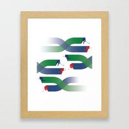 Breakaway - Grassy Field Framed Art Print