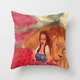 Poppies and Sleep Throw Pillow