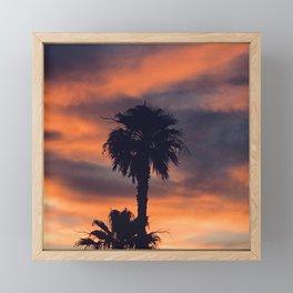 Palm Trees in Sunset on the Planet Jupiter Framed Mini Art Print