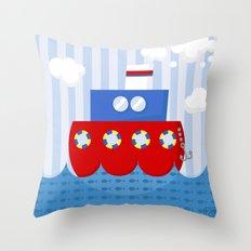 little boat Throw Pillow