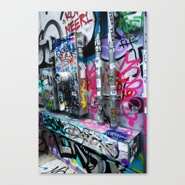 Utility Wall Graffiti Canvas Print