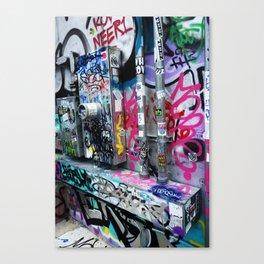 Utility Wall Graffiti Canvas Print