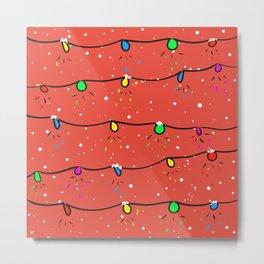 Christmas lights Metal Print