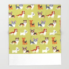 WELSH DOGS Throw Blanket