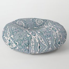 paisley medallion in deep teal Floor Pillow