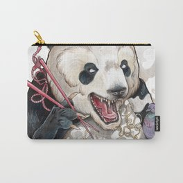 Panda Eating Ramen In A Tin Foil hat Carry-All Pouch