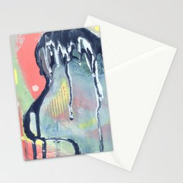 Dry Wave - Abstract Painting - Paint Drip  Stationery Cards