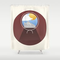 run Shower Curtains featuring Run boy run by Moremo