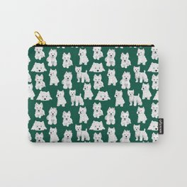 Westies on Green Carry-All Pouch