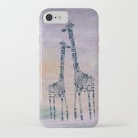 giraffes iPhone & iPod Cases featuring giraffes by Bunny Noir