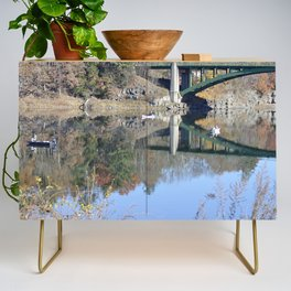 Shifting Totems & Fishing on the Delaware River Credenza