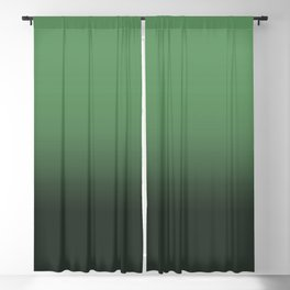 Shades of Green Ombré Design Blackout Curtain