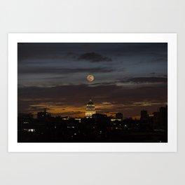 Super moon Capitol Art Print
