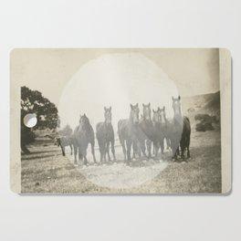 Band of Horses - White Cutting Board