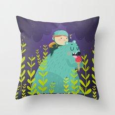 Night adventures Throw Pillow