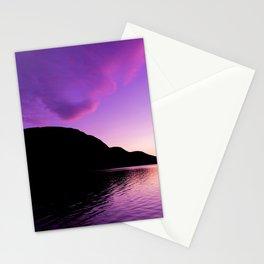 Purple Sunsets Stationery Cards