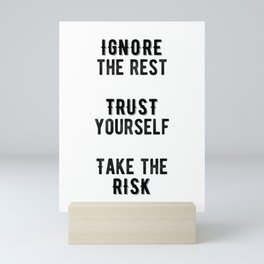 Inspirational -Take The Risk Mini Art Print