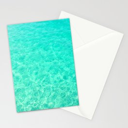 Turquoise Blue Ocean Stationery Cards