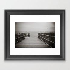 Lonely Beach Day Framed Art Print
