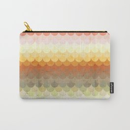 Half Circles Waves Color Carry-All Pouch